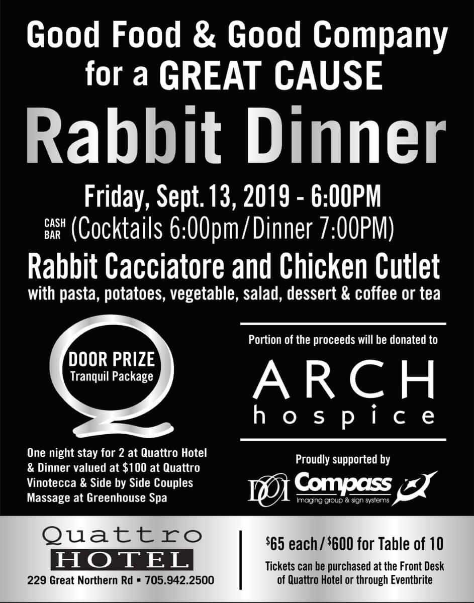 rabbit dinner promo